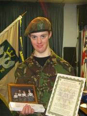 Jason receiving his end of service awards at 18yrs 9 months Dec 2010 (3 months before he died)