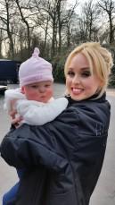 Baby Eva raises money for the DSA Eva & cast3